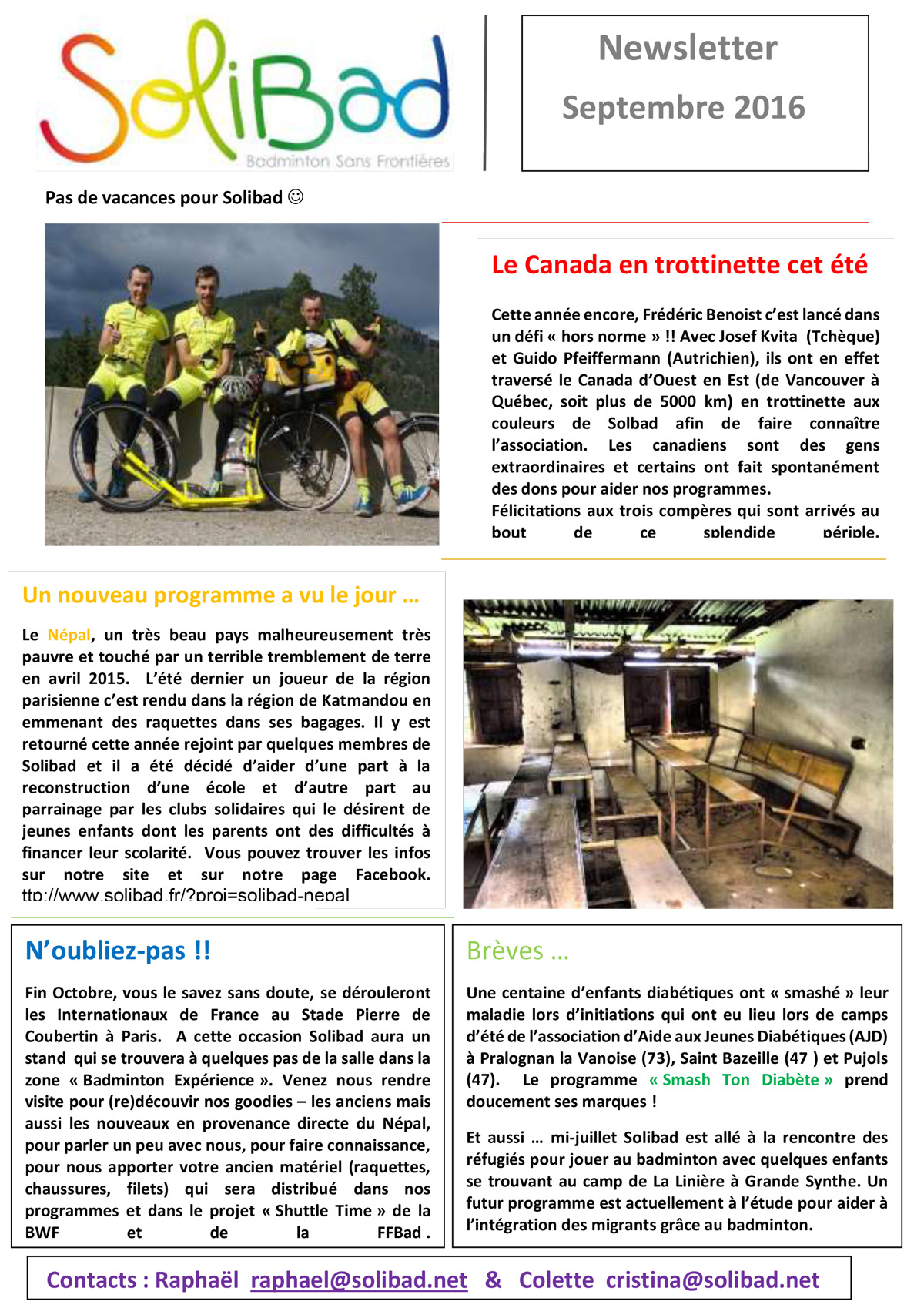 Newsletter septembre 2016 CB 1